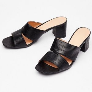 NWOB Nasty Gal Vegan Leather Mules